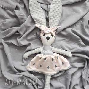 Króliczka z imieniem w opasce , przytulanka, króliczka, dziewczynka, lalka