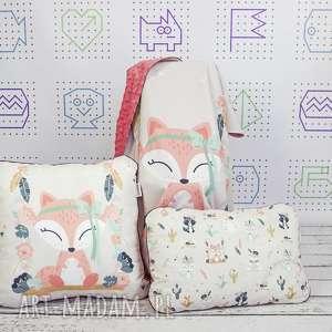 zestaw bohemian friends fox, zestaw, liski, dekoracyjna, łóżeczko, dziewczynki
