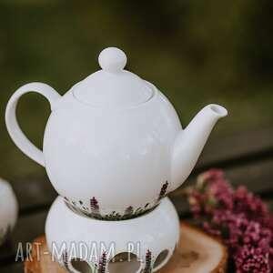imbryk z podgrzewaczem kwitnąca łąka, do herbaty, kawy