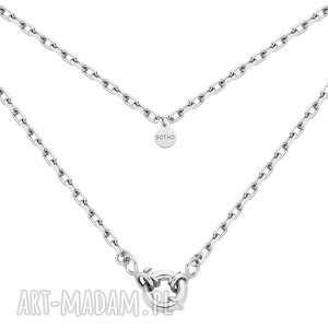 srebrny łańcuch z ozdobnym zapięciem sotho, srebro925, masywny