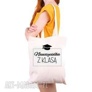 hand-made torba eko na zakupy dla nauczyciela nauczycielka z klasą - dzień