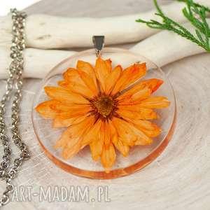 naszyjniki naszyjnik z prawdziwymi kwiatami zatopionymi w żywicy z449