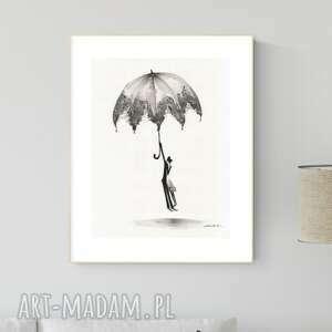 grafika 30x40 cm wykonana ręcznie, abstrakcja, obraz do salonu, 2793729