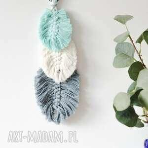 dekoracje mgliste poranki łapacz snów, drewno kokosowe, plecione liście, styl