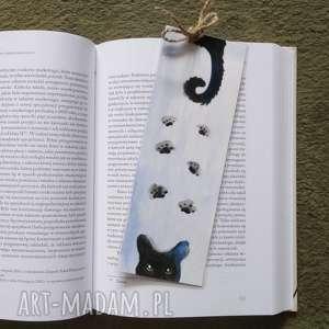 Zakładka do książki-kot zakładki paulina lebida kot,