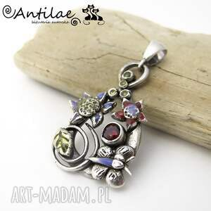 Paruparo - Art Clay Silver, cyrkonia, żywica, artclay, srebro, wisior