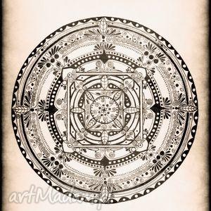 mandala, ilustracja, rysunek