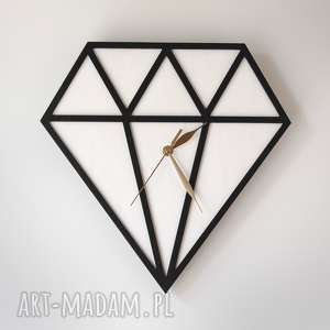 handmade zegary zegar drewniany diament