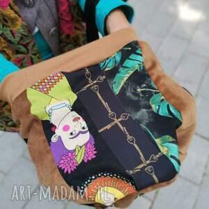 czapka patchworkowa damska na podszewce z wizerunkiem frida kahlo, rozmiar