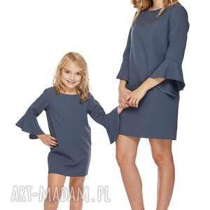 ręcznie wykonane ubranka mama i córka sukienka dla córki ld3/1