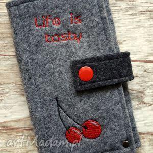 hand-made etui filcowe etui na telefon - life is tasty