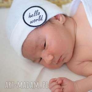 czapeczka newborn babyshower, baby shower, baby, newborn, prezent, chrzest