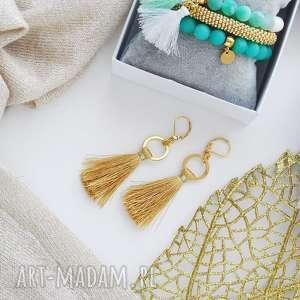 Prezent Ultralekkie kolczyki Boho - Mustard, ultralekkie-kolczyki, modna-biżuteria