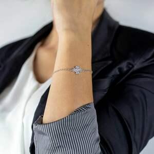 acha studio bransoletka srebrna z koniczynką good luck /powodzenia/, talizman