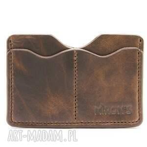 Etui na dokumenty (Brązowy), etui, portfel, skóra, skórzany, naturalny,