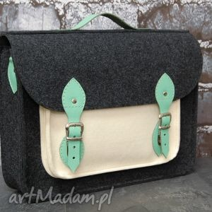 torba na laptopa filc skóra 15, torba, laptop, filc, skórzana, handmade torebki