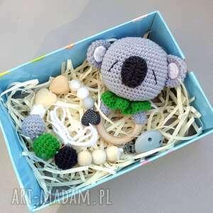 grzechotka i zawieszka do smoczka koala - dla przyszłej mamy, dla dziecka, oryginalny