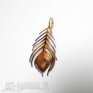 pawie piórko wisior, srebro, pawie, venus, oksyda, biżuteria, święta prezent