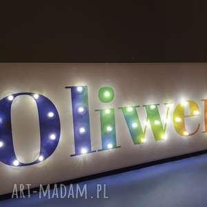 Prezent NAPIS LED imię neon Twoje słowo prezent tęczowy obraz lampa personalizowany