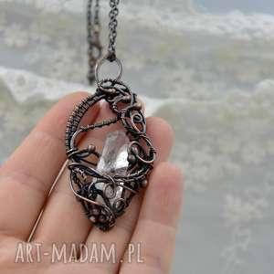 Prezent Crystal amulet - naszyjnik z kryształem górskim, naszyjnik-z-miedzi