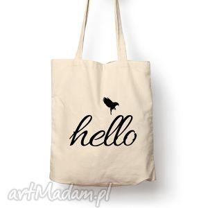 oryginalne prezenty, torba - hello, torba, bawełna, eco, prezent, hello