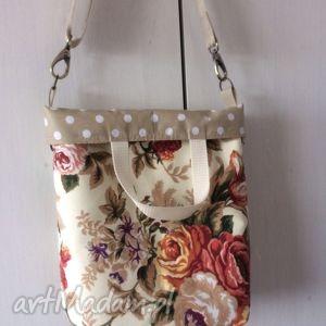 Prezent Lubię Cath na beżowo, kwiaty, cath, wiosenna, grochy, prezent, kobieca
