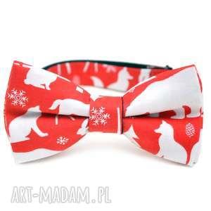 muchy i muszki mucha red christmas, prezent, impreza, święta, choinka, krawat