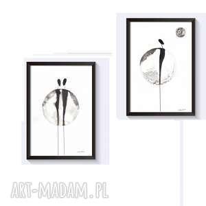 plakaty zestaw 2 grafik czarno-białych z cyklu about real relationships - zamówienie