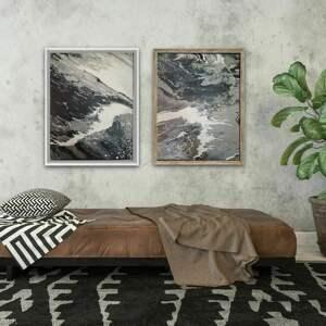 obraz w podwójnym egzemplarzu ręcznie malowany na płótnie 55 x 45