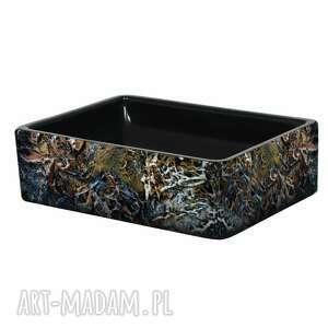 art and texture magma - artystyczna umywalka nablatowa ze strukturą, ekskluzywna