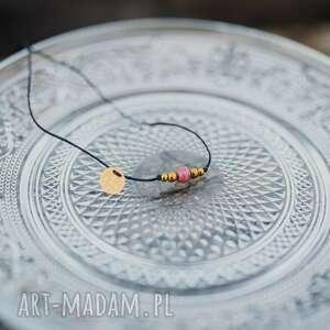 bransoletka rodonit i złote hematyt na sznurku, rodonit, hematyt, sznurkowa