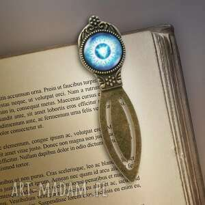 liliarts zakładka do książki - czakra gardła metalowa, zakładka