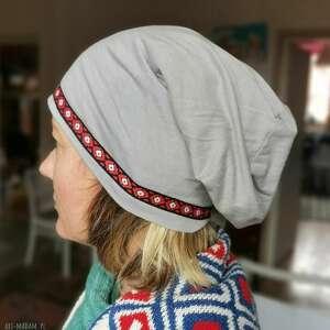 czapka damska na mniejszą glowe 57-58cm,na podszewce, nierozciągliwa box g1