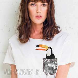 TOUCAN IN POCKET Oversize T-shirt, oversize