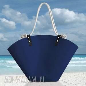 koszyk xxl granatowy, koszyk, plażowy, duży, zakupy, filcowy, letni na ramię torebki