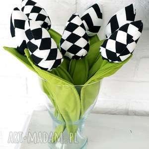 Prezent Bawełniane tulipanki - 7 sztuk, kwiaty, bawełniane, bukiet, tulipany, prezent