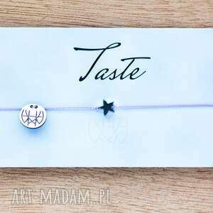 WHW Taste Star On Lilly String, sznurkowa, sznureczkowa, delikatna, hematyt, gwiazdka