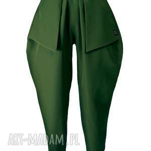 non tess zielone spodnie z kieszonkami, spodnie, proste, casual, rozmiar, design