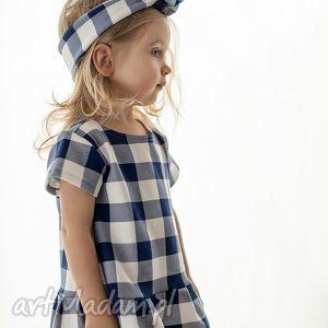 Sukienka w kratę, sukienka, dresowa, dziecięca, dziewczęca, kraciaska