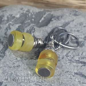 kolczyki kolczyki srebrne z bursztynami