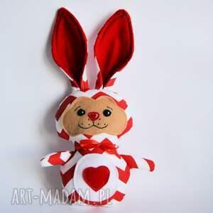 Królik torebkowy - Basia, królik, zając, maskotka, przytulanka, wielkanoc, roczek
