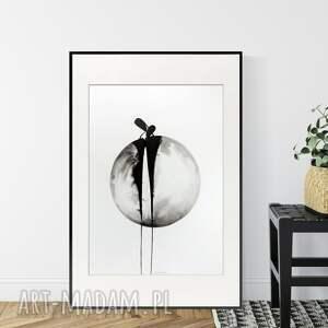 minimal art obraz ręcznie malowany 50 x 70 cm, nowoczesna abstrakcja, 2854572