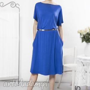 Uniwersalna szafirowa sukienka, letnia, szafirowa, wygodna