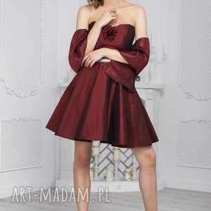sukienki sukienka gorsetowa bg-tg kolor burgund, gorsetowa, wieczorowa, mini