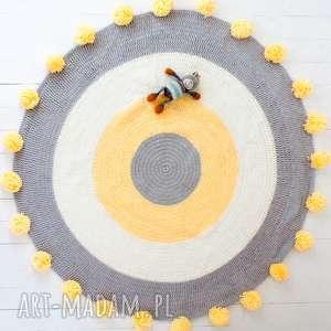 dywan pokÓj dzieciĘcy z pomponami 85 cm - dywan, dywanik, dziecięcy, sznurek