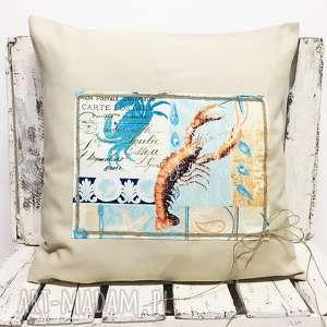 ręczne wykonanie poduszki poduszka 47x47cm z wkładem - pocztówka