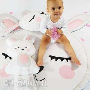 mata królik 100 cm z poduszką i maskotką, poduszka maskotka