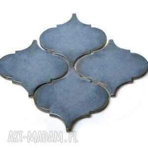 płytki ceramiczne, ręcznie robione, na zamówienie - arabeska mała