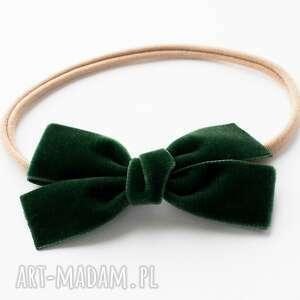 ręczne wykonanie pomysł na prezent święta opaska do włosów velvet bow