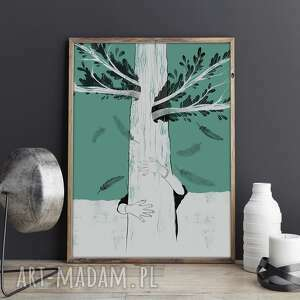 Plakat a2 nie ma chemii plakaty vikinska drzewo, natura, a2